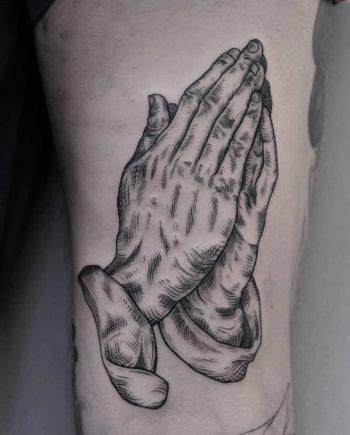 Dürer's praying hands tattoo