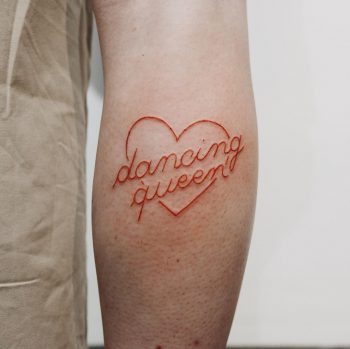 Dancing queen done at Bonjour Tattoo Club