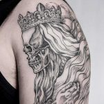 Dead king tattoo by Dogma Noir