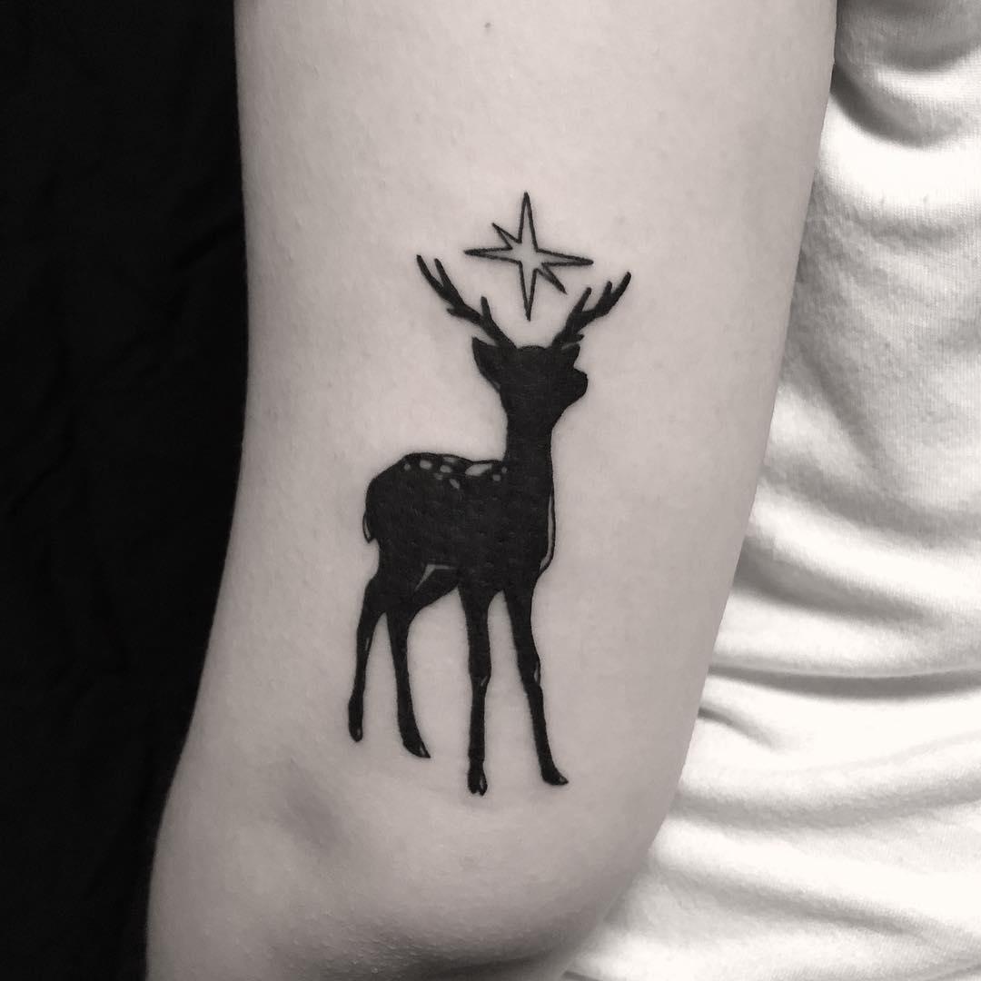 Deer tattoo done at BK Ink Studio