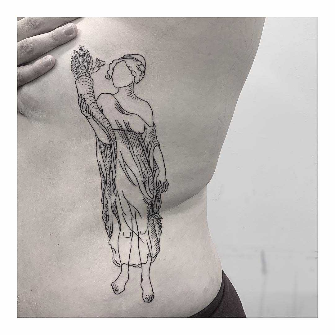 Demeter tattoo on the side