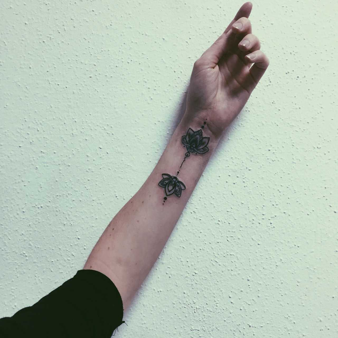 Double Lotus flower tattoo