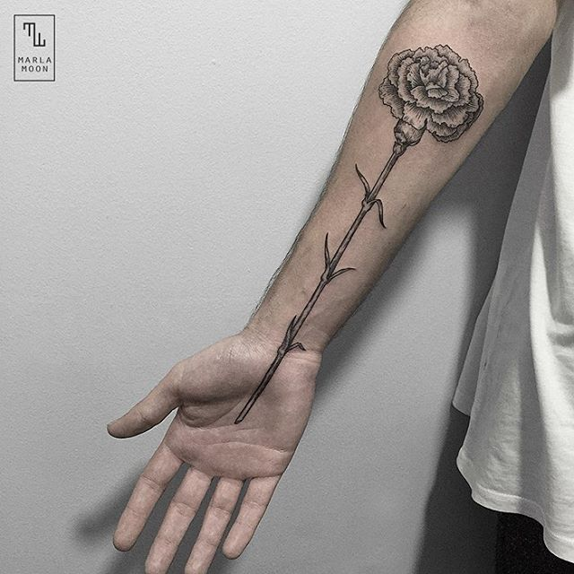 Flower tattoo on the forearm by Marla Moon