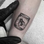 Fly in a jar done at Primordial Pain Tattoo, Milano