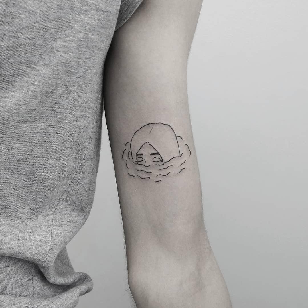 Girl in water tattoo