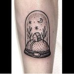 Glass dome tattoo by Suflanda
