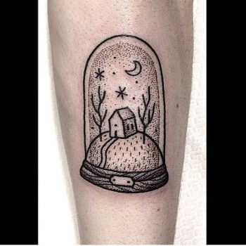 Glass dome tattoo by Suflanda
