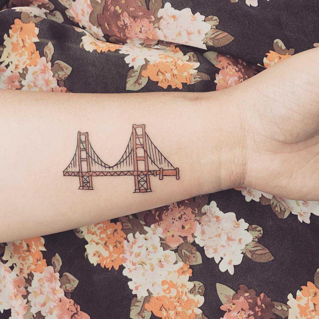Golden State Bridge tattoo by Jen Wong