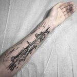 Grand Canyon landscape tattoo by William Doolittle