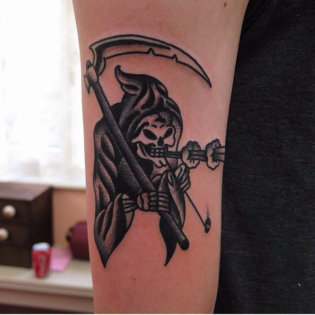 Grim reaper tattoo by Rich Hadley