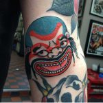 Happy asian tattoo by Bailey Tattooer