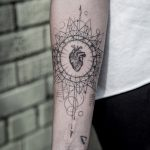 Heart and geometry tattoo