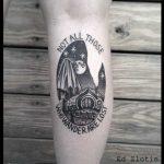 Hobbit house tattoo by Ed Zlotin