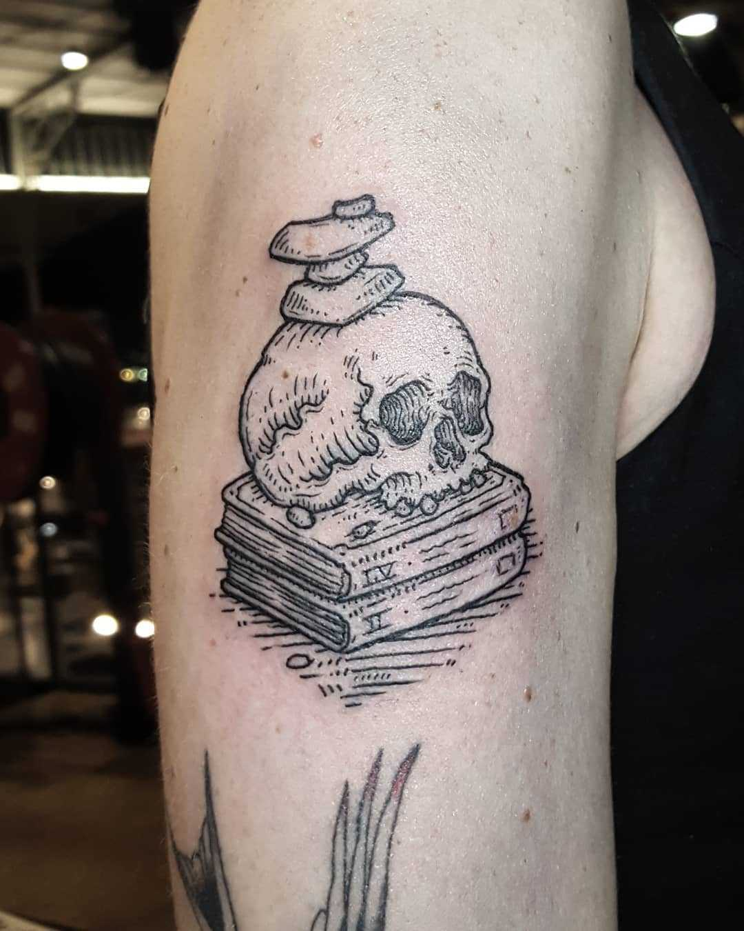 Knowledge and balance tattoo
