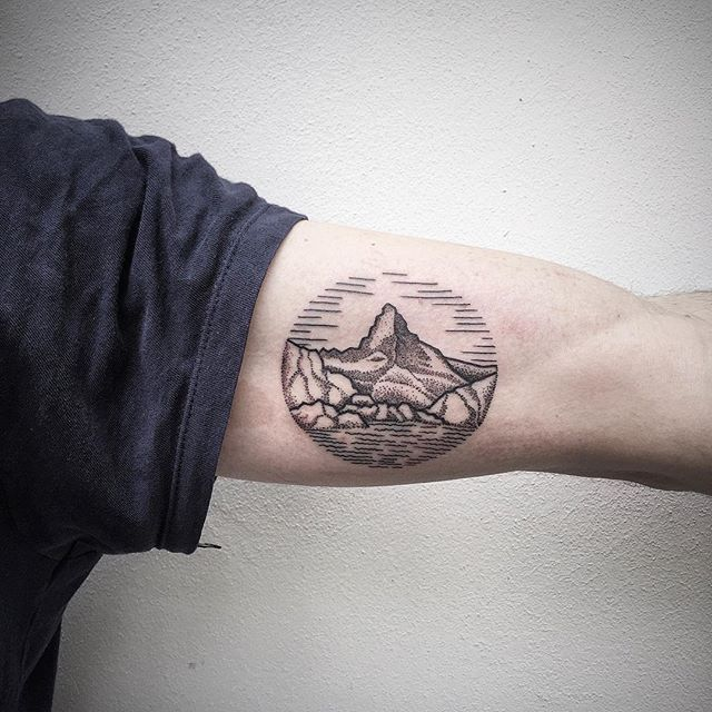 Landscape tattoo by Roma Severov