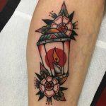 Lantern tattoo by Jeroen Van Dijk