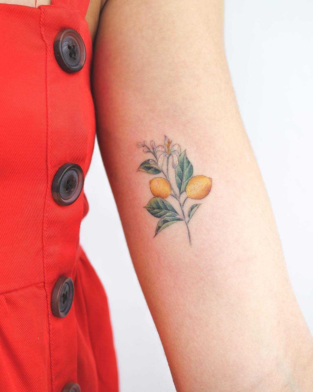 Lemon branch tattoo