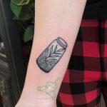 Little jar tattoo