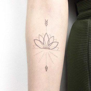 Lotus arrow by Femme Fatale Tattoo
