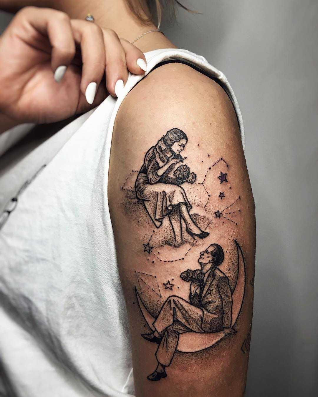 Lovers tattoo by Sasha Tattooing