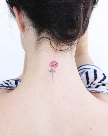 Micro camellia flower TATTOO
