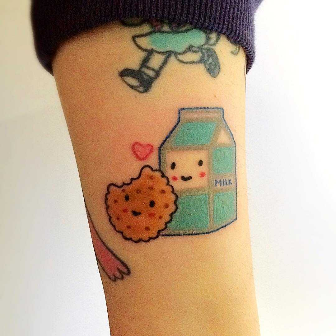 Milk and cookie tattoo