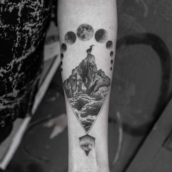 Mountain tattoo by Balazs Bercsenyi