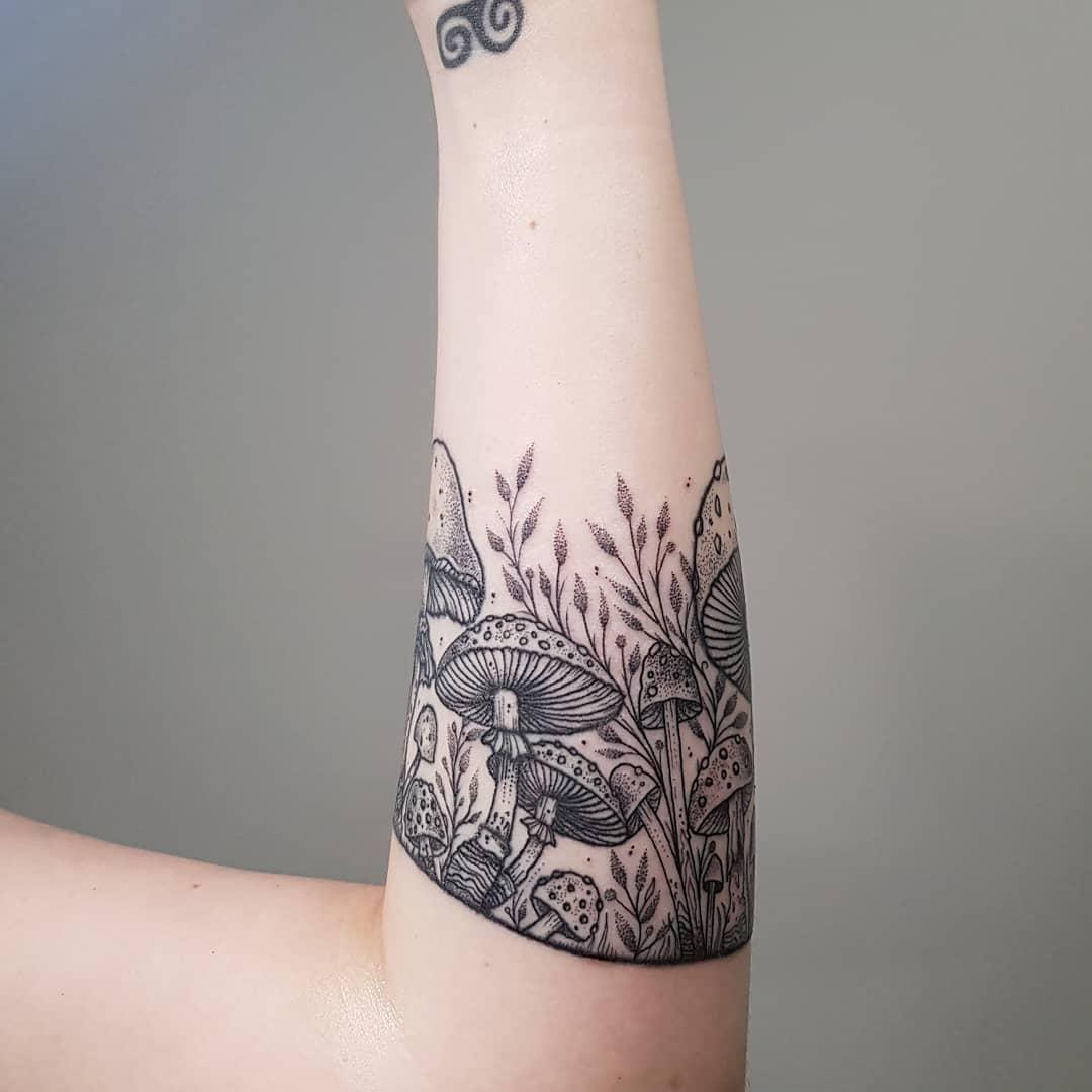 Mushroom family tattoo