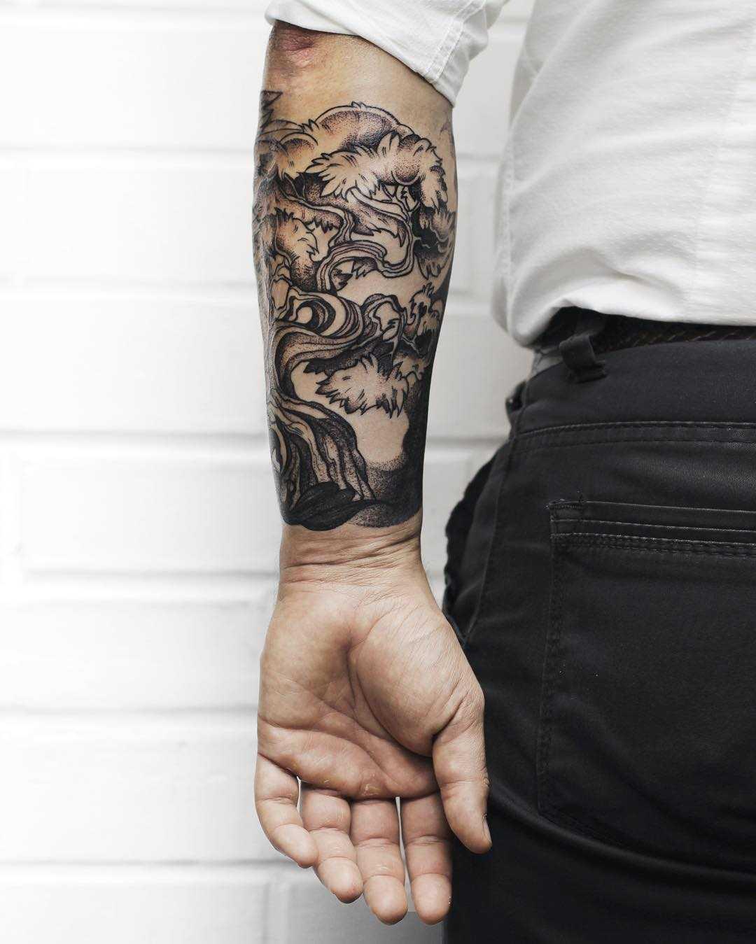 Native motives tattoo by Sasha Tattooing