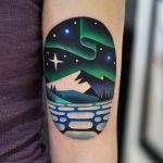 Nordic landscape tattoo by David Côté