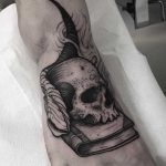 Occult tattoo on the foot