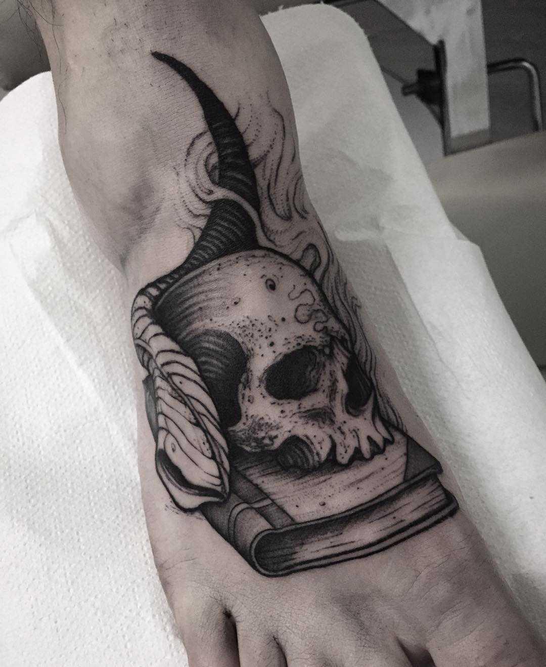 Occult Tattoo On The Foot Tattoogrid Net