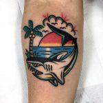 Old-school shark tattoo by Ssik Boy