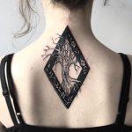 Old tree tattoo by Rebecca Dewinter