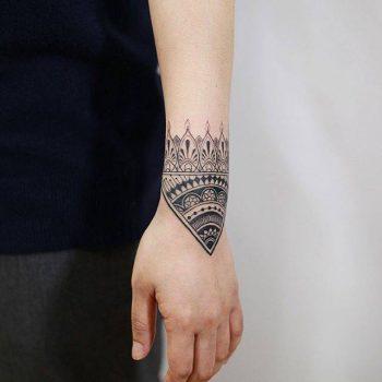 Ornamental tattoo by Woori Done In Suwon