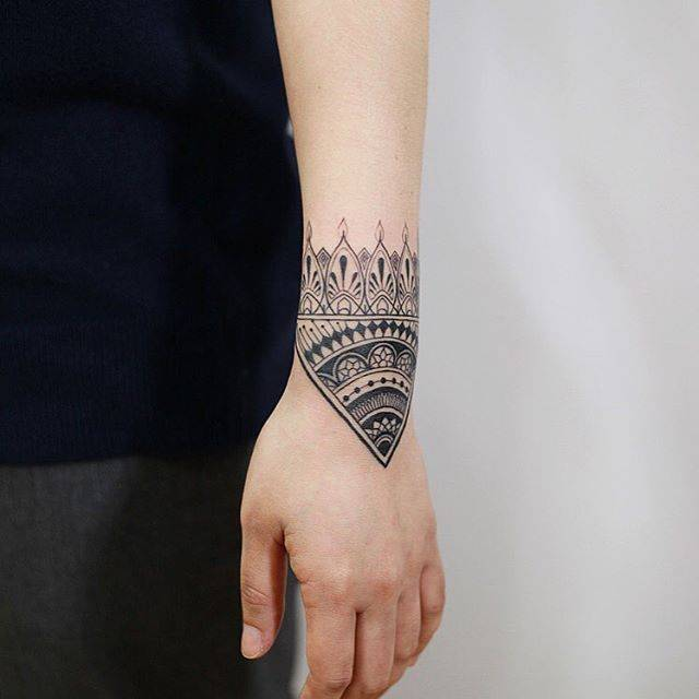 Ornamental tattoo by Woori Done In Suwon