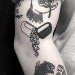 Pill tattoo done at BK Ink Studio