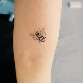 Precious little bee tattoo