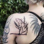 Rat and wheat tattoo
