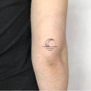 Rising crescent moon by Femme Fatale Tattoo