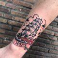 Ship sailing home tattoo
