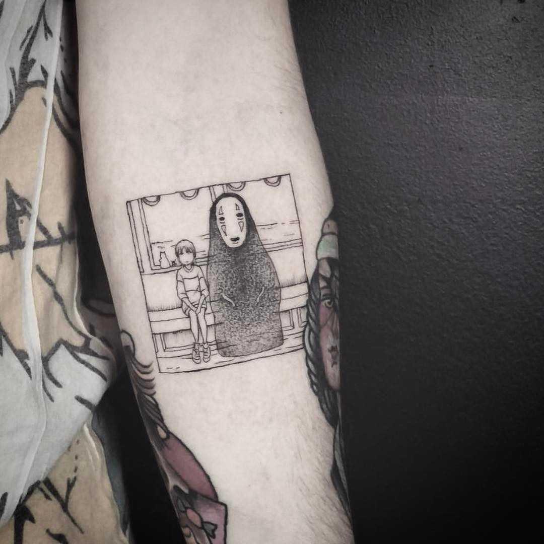 Spirited away scene by E.k.ek.tattoos