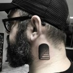 Stairway tattoo on the neck