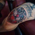 Tiger head tattoo by Rich Hadley
