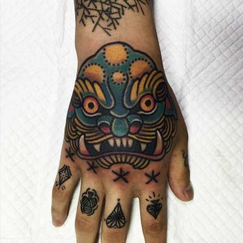 Traditional style monster tattoo