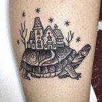 Turtle tattoo by Suflanda