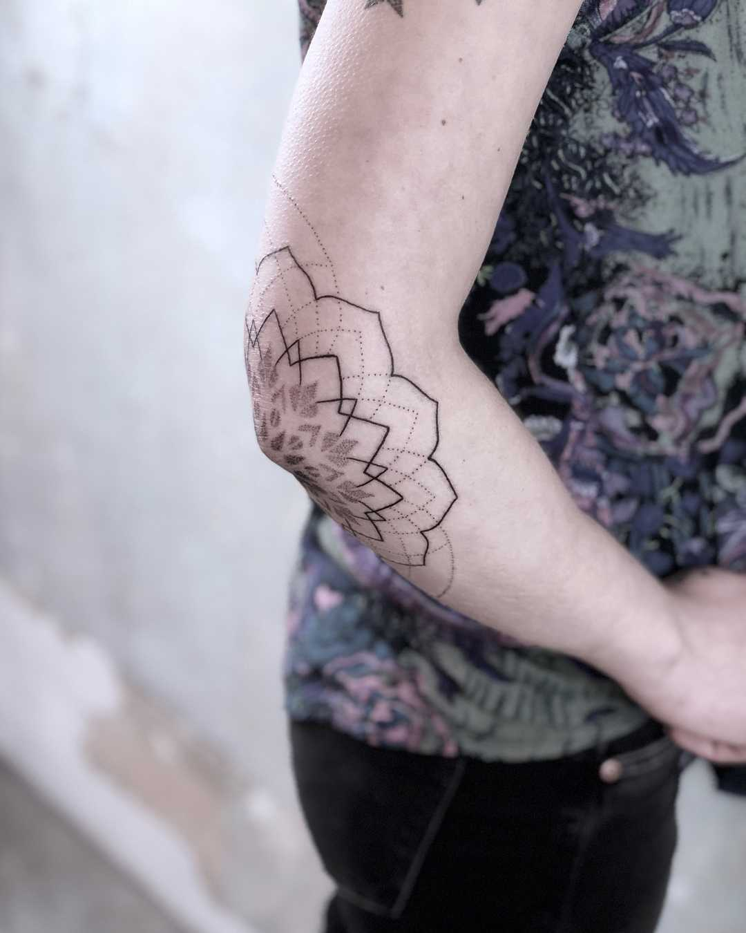 Unfinished mandala tattoo by Lox Luna
