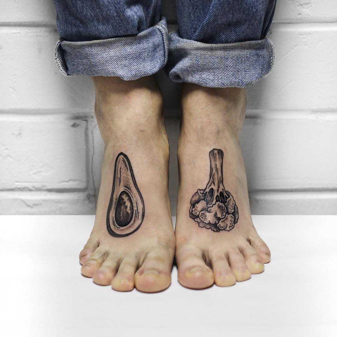 Vegan power tattoo