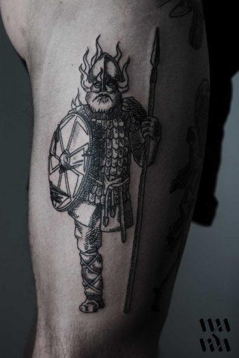 Viking tattoo by Warda