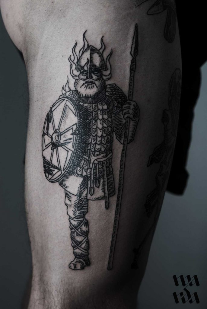 Viking tattoo by Warda